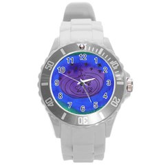 Starry Egg Round Plastic Sport Watch (l) by snowwhitegirl