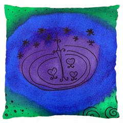 Starry Egg Standard Flano Cushion Case (two Sides) by snowwhitegirl
