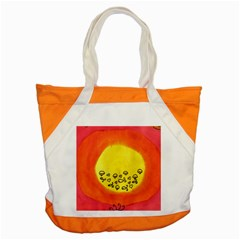 Red Sun Accent Tote Bag