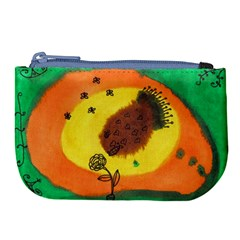 Pirana Eating Flower Large Coin Purse by snowwhitegirl