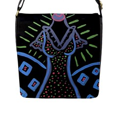 Saint Dress Flap Messenger Bag (l)  by snowwhitegirl