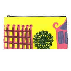 Pink House And Fence Pencil Cases