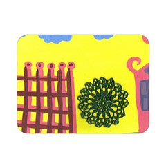 Pink House And Fence Double Sided Flano Blanket (mini)