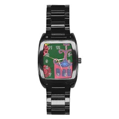 The Biggest Pink House Stainless Steel Barrel Watch by snowwhitegirl