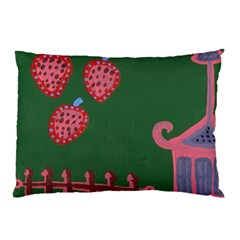 Floating Strawberries Pillow Case by snowwhitegirl