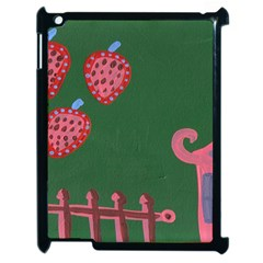 Floating Strawberries Apple Ipad 2 Case (black) by snowwhitegirl