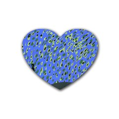 Raining Leaves Heart Coaster (4 Pack)  by snowwhitegirl