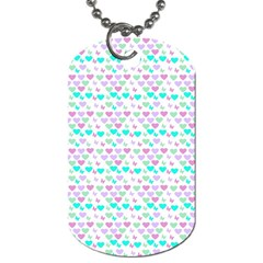 Hearts Butterflies White 1200 Dog Tag (two Sides) by snowwhitegirl