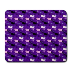 Snow Sleigh Deer Purple Large Mousepads by snowwhitegirl