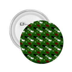 Snow Sleigh Deer Green 2 25  Buttons by snowwhitegirl