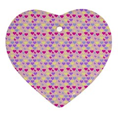 Hearts Butterflies Pink 1200 Ornament (heart) by snowwhitegirl