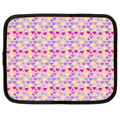 Hearts Butterflies Pink 1200 Netbook Case (large) by snowwhitegirl