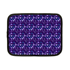 Hearts Butterflies Blue Netbook Case (small)  by snowwhitegirl
