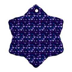Hearts Butterflies Blue Ornament (snowflake)