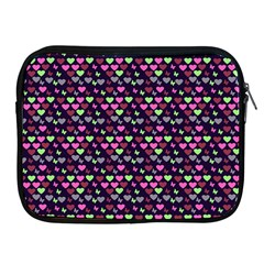 Hearts Butterflies Blue Pink Apple Ipad 2/3/4 Zipper Cases by snowwhitegirl