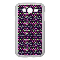 Hearts Butterflies Blue Pink Samsung Galaxy Grand Duos I9082 Case (white) by snowwhitegirl