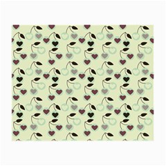 Heart Cherries Mint Small Glasses Cloth (2-side)
