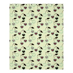 Heart Cherries Mint Shower Curtain 60  X 72  (medium)  by snowwhitegirl