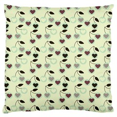 Heart Cherries Mint Large Cushion Case (two Sides) by snowwhitegirl