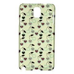 Heart Cherries Mint Samsung Galaxy Note 3 N9005 Hardshell Case by snowwhitegirl