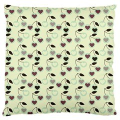 Heart Cherries Mint Standard Flano Cushion Case (one Side) by snowwhitegirl