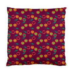 Heart Cherries Magenta Standard Cushion Case (one Side) by snowwhitegirl