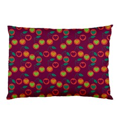 Heart Cherries Magenta Pillow Case (two Sides) by snowwhitegirl