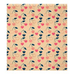 Heart Cherries Cream Shower Curtain 66  X 72  (large)  by snowwhitegirl