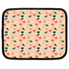 Heart Cherries Cream Netbook Case (xxl)  by snowwhitegirl