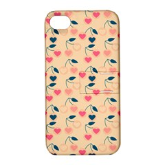 Heart Cherries Cream Apple Iphone 4/4s Hardshell Case With Stand by snowwhitegirl