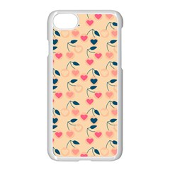 Heart Cherries Cream Apple Iphone 8 Seamless Case (white) by snowwhitegirl