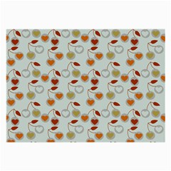 Heart Cherries Grey Large Glasses Cloth (2-side)