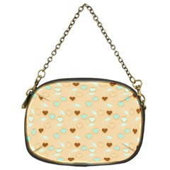 Beige Heart Cherries Chain Purses (two Sides)