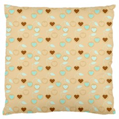 Beige Heart Cherries Standard Flano Cushion Case (one Side) by snowwhitegirl