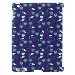 Heart Cherries Blue Apple Ipad 3/4 Hardshell Case (compatible With Smart Cover) by snowwhitegirl