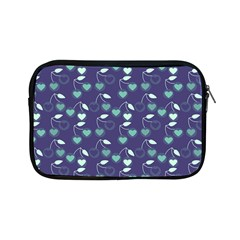 Heart Cherries Blue Apple Ipad Mini Zipper Cases by snowwhitegirl