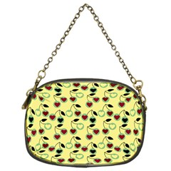 Yellow Heart Cherries Chain Purses (two Sides)  by snowwhitegirl