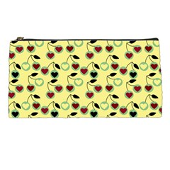 Yellow Heart Cherries Pencil Cases by snowwhitegirl