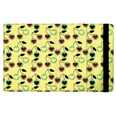 Yellow Heart Cherries Apple Ipad 2 Flip Case by snowwhitegirl