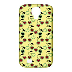 Yellow Heart Cherries Samsung Galaxy S4 Classic Hardshell Case (pc+silicone) by snowwhitegirl