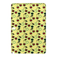 Yellow Heart Cherries Samsung Galaxy Tab Pro 12 2 Hardshell Case by snowwhitegirl
