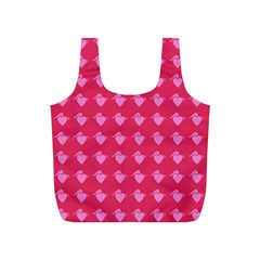 Punk Heart Pink Full Print Recycle Bags (s)  by snowwhitegirl
