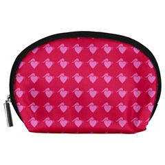 Punk Heart Pink Accessory Pouches (large)