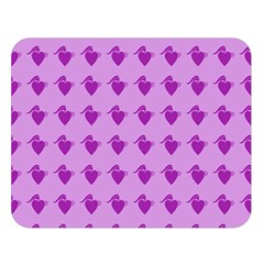 Punk Heart Violet Double Sided Flano Blanket (large)  by snowwhitegirl