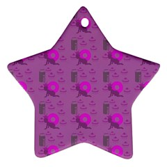 Punk Baby Violet Star Ornament (two Sides)