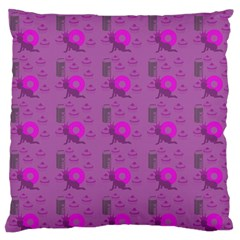 Punk Baby Violet Large Flano Cushion Case (two Sides) by snowwhitegirl