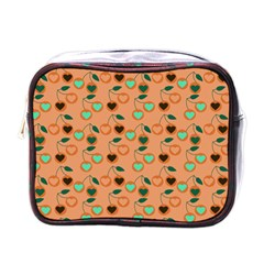 Peach Cherries Mini Toiletries Bags by snowwhitegirl