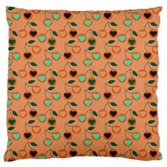 Peach Cherries Standard Flano Cushion Case (two Sides) by snowwhitegirl