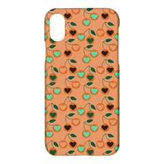 Peach Cherries Apple Iphone X Hardshell Case