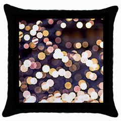 Bright Light Pattern Throw Pillow Case (black) by FunnyCow
